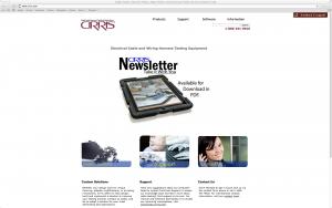 Screen shot of website layout design.