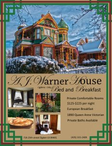 Warner house B&B flyer